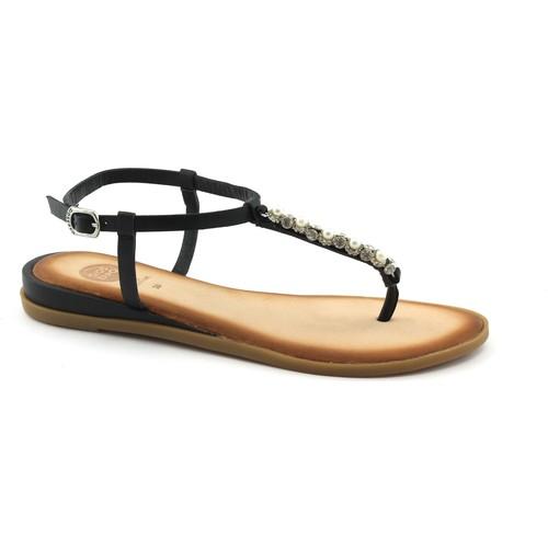 Gioseppo 45331 schwarze Sandalen Frau Flip Flops schwarz Strass Juwel Le Nero - Schuhe Sandalen / Sandaletten Damen 68,34