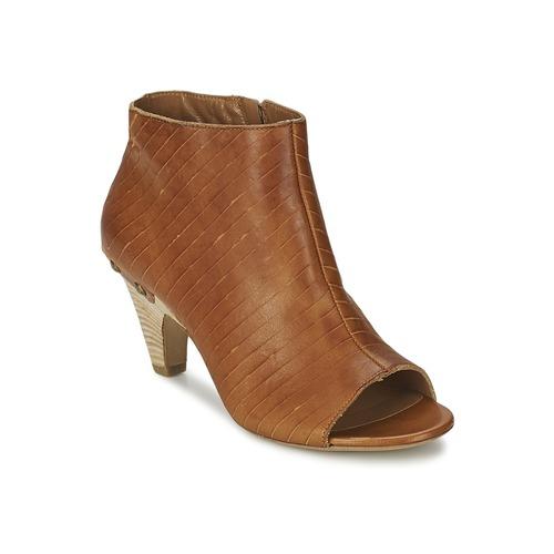 Vic GONCO Braun  Schuhe Ankle Stiefel Damen