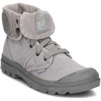 Schuhe Damen Sneaker High Palladium Manufacture Pallabrouse Baggy Grau
