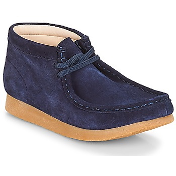 Schuhe Kinder Boots Clarks Wallabee Bt Navy