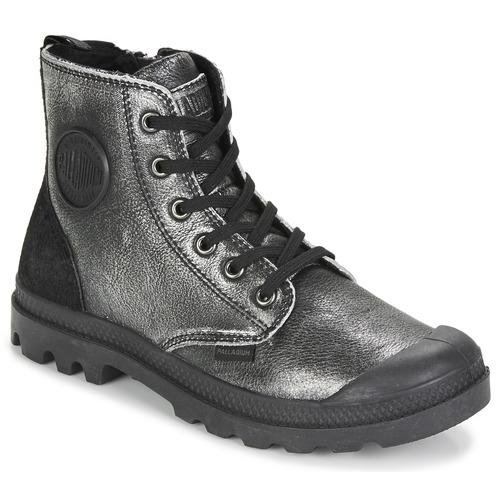 Palladium PAMPA HI Schwarz / Silbern  Schuhe Boots Damen 109,95