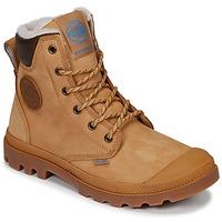 Schuhe Boots Palladium PAMPA SPORT CUFF WPS Gelb / Braun