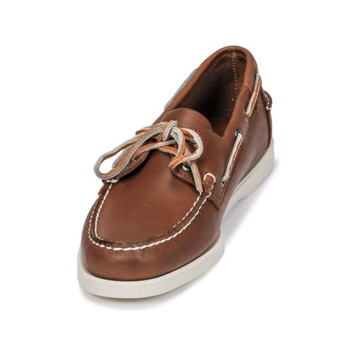 Sebago DOCKSIDES FGL Braun  Schuhe Bootsschuhe Herren 149