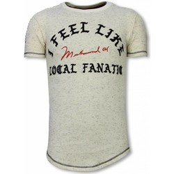 Kleidung Herren T-Shirts Local Fanatic Long Ich Fühle Mich Wie Muhammad Beige