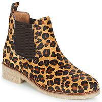 Schuhe Damen Boots Bensimon BOOTS CREPE Leopard