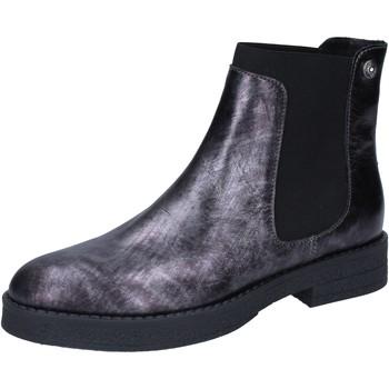 Schuhe Damen Low Boots Liu Jo stiefeletten grau leder BY589 grau