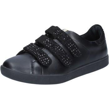 Schuhe Damen Sneaker Low Liu Jo sneakers schwarz leder wildleder BY639 schwarz