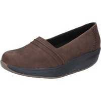 Schuhe Damen Slipper Mbt slip on mokassins braun nabuk performance BY686 braun