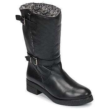 Schuhe Damen Boots Unisa DALI Schwarz