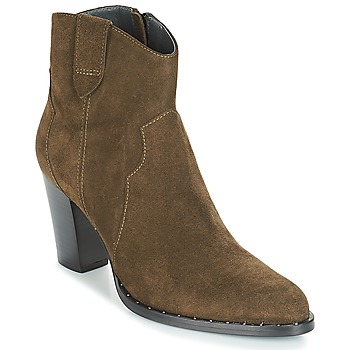 Schuhe Damen Low Boots Myma PLOUTAS Kaki