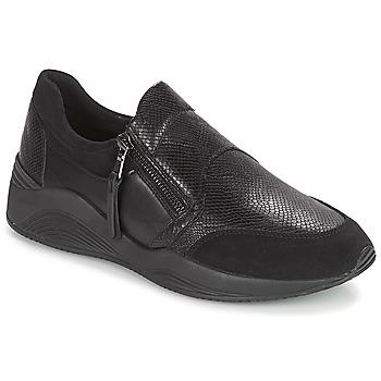 Schuhe Damen Sneaker Low Geox D OMAYA Schwarz