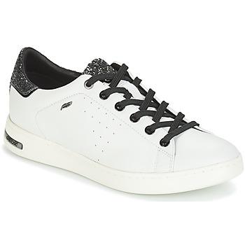 Schuhe Damen Sneaker Low Geox JAYSEN Weiss / Silbern