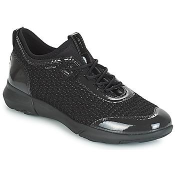 Schuhe Damen Sneaker Low Geox D NEBULA X Schwarz