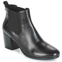 Schuhe Damen Low Boots Geox D NEW LUCINDA Schwarz
