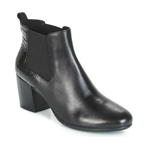 Geox D NEW LUCINDA Schwarz  Schuhe Low Boots Damen 145