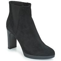Schuhe Damen Low Boots Geox D ANNYA HIGH Schwarz