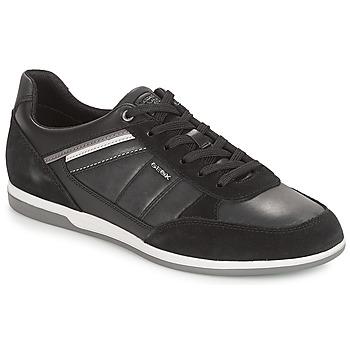 Schuhe Herren Sneaker Low Geox U RENAN Schwarz