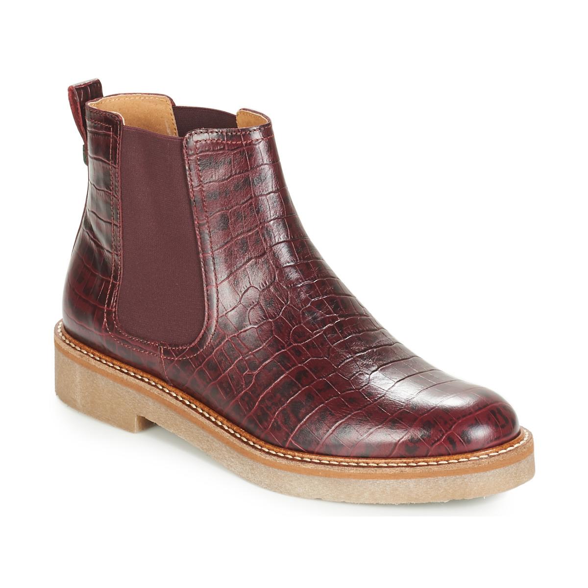 Kickers OXFORDCHIC Bordeaux - Kostenloser Versand bei Spartoode ! - Schuhe Boots Damen 139,00 €