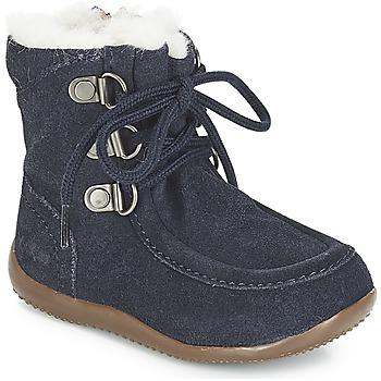 Schuhe Kinder Klassische Stiefel Kickers BAMARA Marine
