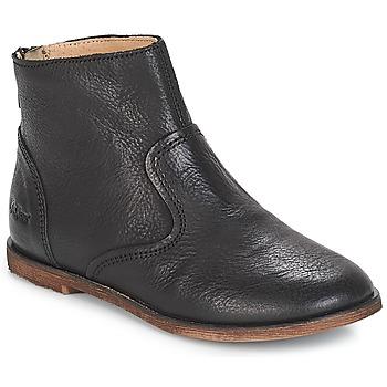 Schuhe Mädchen Klassische Stiefel Kickers ROXANNA Schwarz