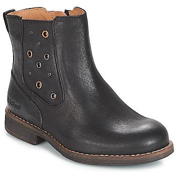 Schuhe Mädchen Klassische Stiefel Kickers SMAD Schwarz