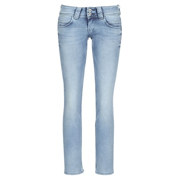 Kleidung Damen Straight Leg Jeans Pepe jeans VENUS Blau