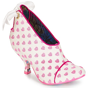 00bd4e42545218 Schuhe Damen Ankle Boots Irregular Choice Love is all around Weiss   Rose
