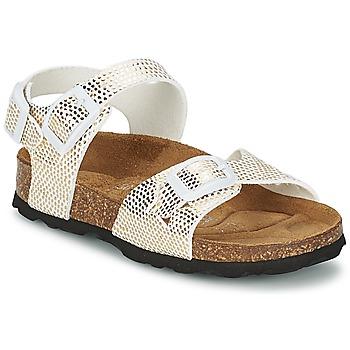Schuhe Mädchen Sandalen / Sandaletten Betula Original Betula Fussbett JEAN Goldfarben