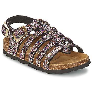 Schuhe Mädchen Sandalen / Sandaletten Betula Original Betula Fussbett LEONA Rose / Multifarben