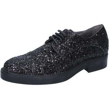 Schuhe Damen Derby-Schuhe & Richelieu Janet&Janet elegante schwarz glitter BY753 schwarz