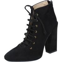 Schuhe Damen Low Boots Gianni Marra schuhe damen  stiefeletten tronchetti schwarz wildleder BY757 schwarz