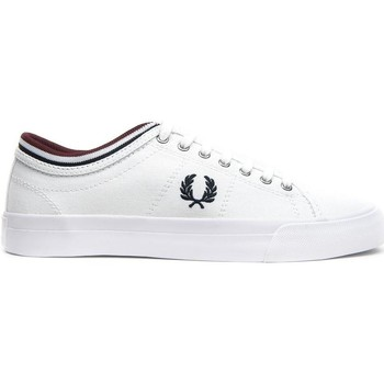 Schuhe Sneaker Low Fred Perry ZAPATILLA KENDRICK TIPPED CUFF CANVAS Weiß