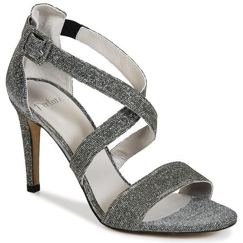 Perlato ALAMA Silbern Schuhe Sandalen / Sandaletten Damen 73