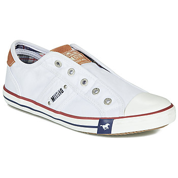 Schuhe Damen Sneaker Low Mustang NAJERILLA Weiss