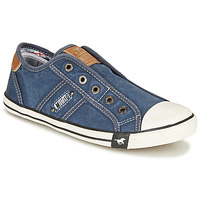 Schuhe Damen Sneaker Low Mustang NAJERILLA Blau