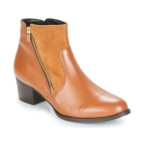 So Size JOCASSU Camel  Schuhe Low Boots Damen