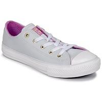 Schuhe Mädchen Sneaker High Converse CHUCK TAYLOR ALL STAR HI Stahl / anis / Fuchsienrot / Weiss