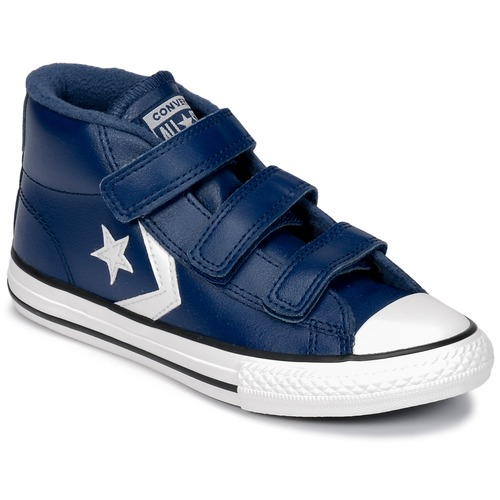 Schuhe Kinder Sneaker High Converse STAR PLAYER 3V MID Navy / Blau / Weiss