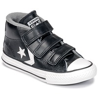 Schuhe Kinder Sneaker High Converse STAR PLAYER 3V MID Schwarz / Weiss