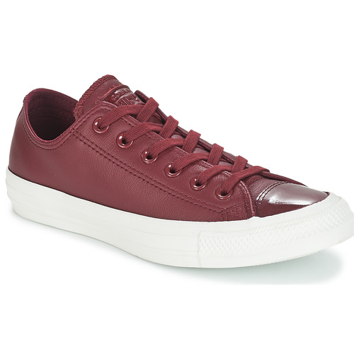 Schuhe Damen Sneaker Low Converse CHUCK TAYLOR ALL STAR LEATHER OX Bordeaux