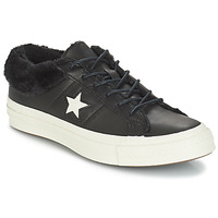 Schuhe Damen Sneaker Low Converse ONE STAR LEATHER OX Schwarz