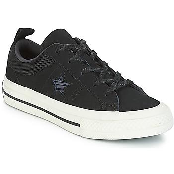 Schuhe Kinder Sneaker Low Converse ONE STAR NUBUCK OX Schwarz / Weiss