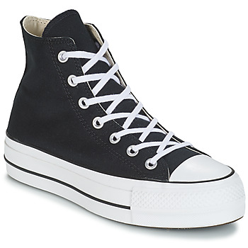 Schuhe Damen Sneaker High Converse CHUCK TAYLOR ALL STAR LIFT CANVAS HI Schwarz