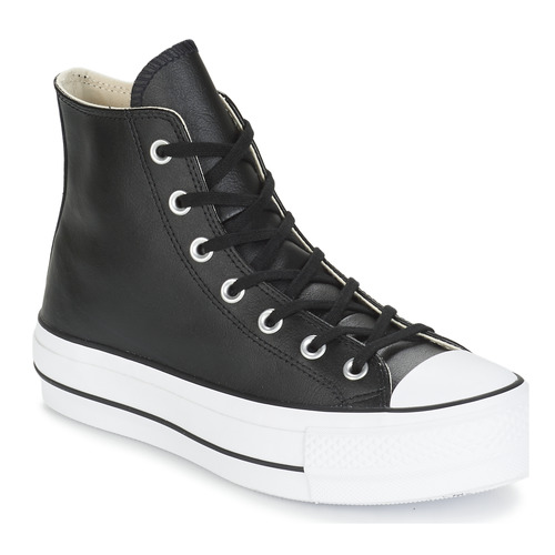 Schuhe Damen Sneaker High Converse CHUCK TAYLOR ALL STAR LIFT CLEAN LEATHER HI Schwarz