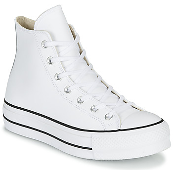 Schuhe Damen Sneaker High Converse CHUCK TAYLOR ALL STAR LIFT CLEAN LEATHER HI Weiss