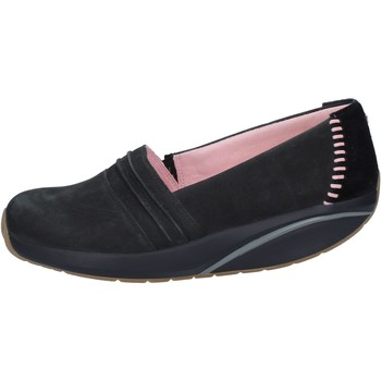 Schuhe Damen Slipper Mbt slip on mokassins schwarz nabuk wildleder BY973 schwarz
