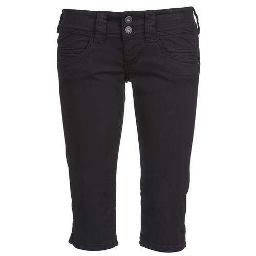 3/4 Hosen & 7/8 Hosen Pepe jeans VENUS CROP Schwarz 350x350