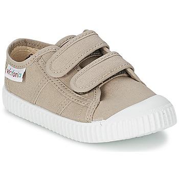 Schuhe Kinder Sneaker Low Victoria BLUCHER LONA DOS VELCROS Beige