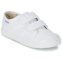 Schuhe Kinder Sneaker Low Victoria BLUCHER LONA DOS VELCROS Weiss