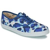 Schuhe Damen Sneaker Low Victoria INGLESA ESTAMP HUELLA TIGRE Blau